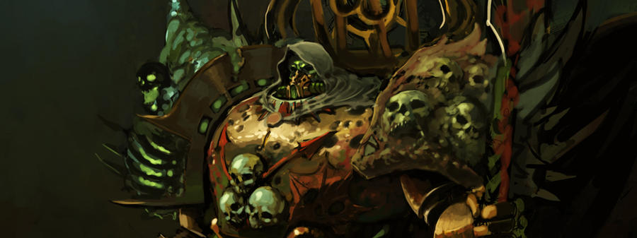 [W30K] Collections d'images : Les Primarques - Page 4 Mortarion_work_in_progress_1_by_saint_max-d477knx