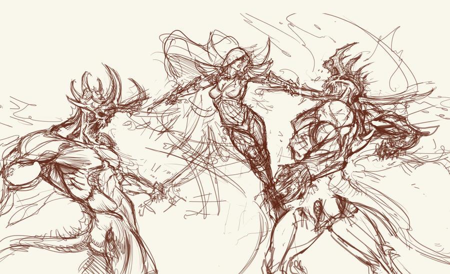 Demon Hunter sketch #2 by saint-max