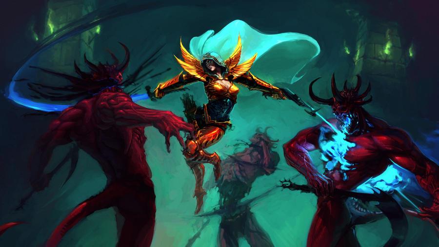 The Demon Hunter by saint-max