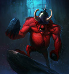 Red Troll ~ Faeria ~ by saint-max