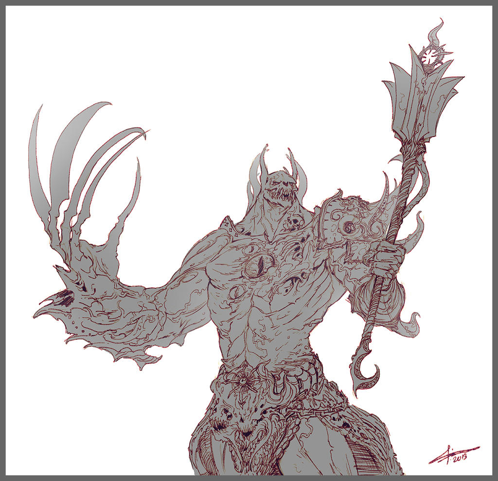 Commission: Demon Prince Horus by saint-max
