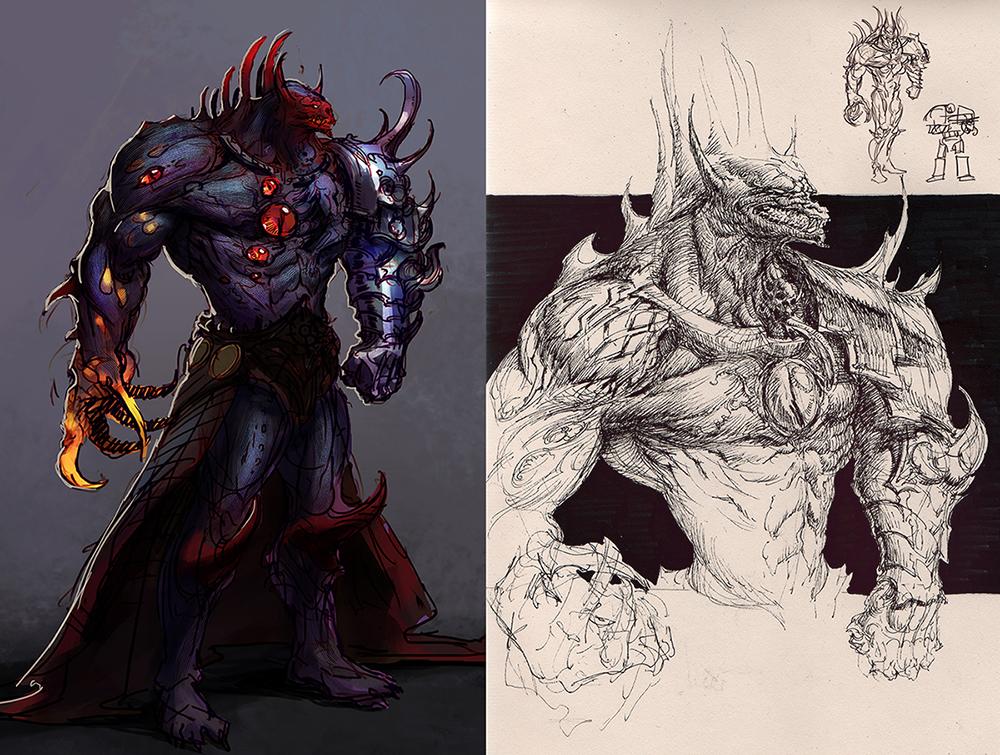 Demon Horus: character study by saint-max