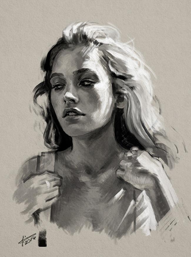 Portrait study #5 by saint-max