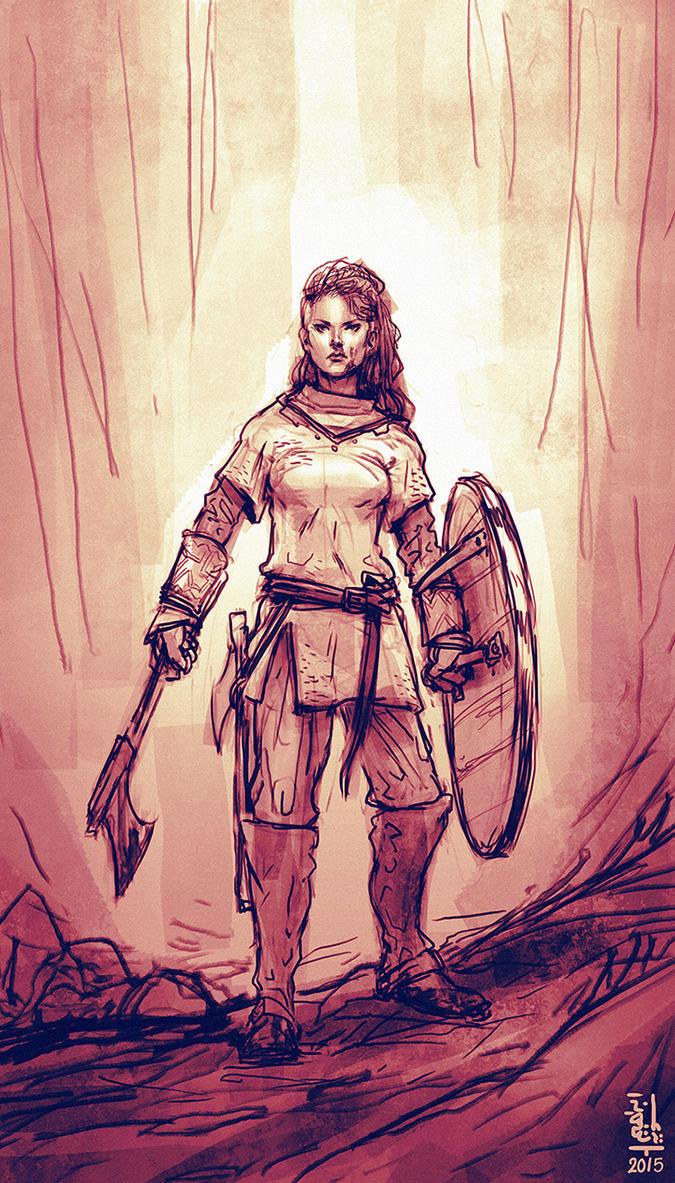 Viking girl by saint-max