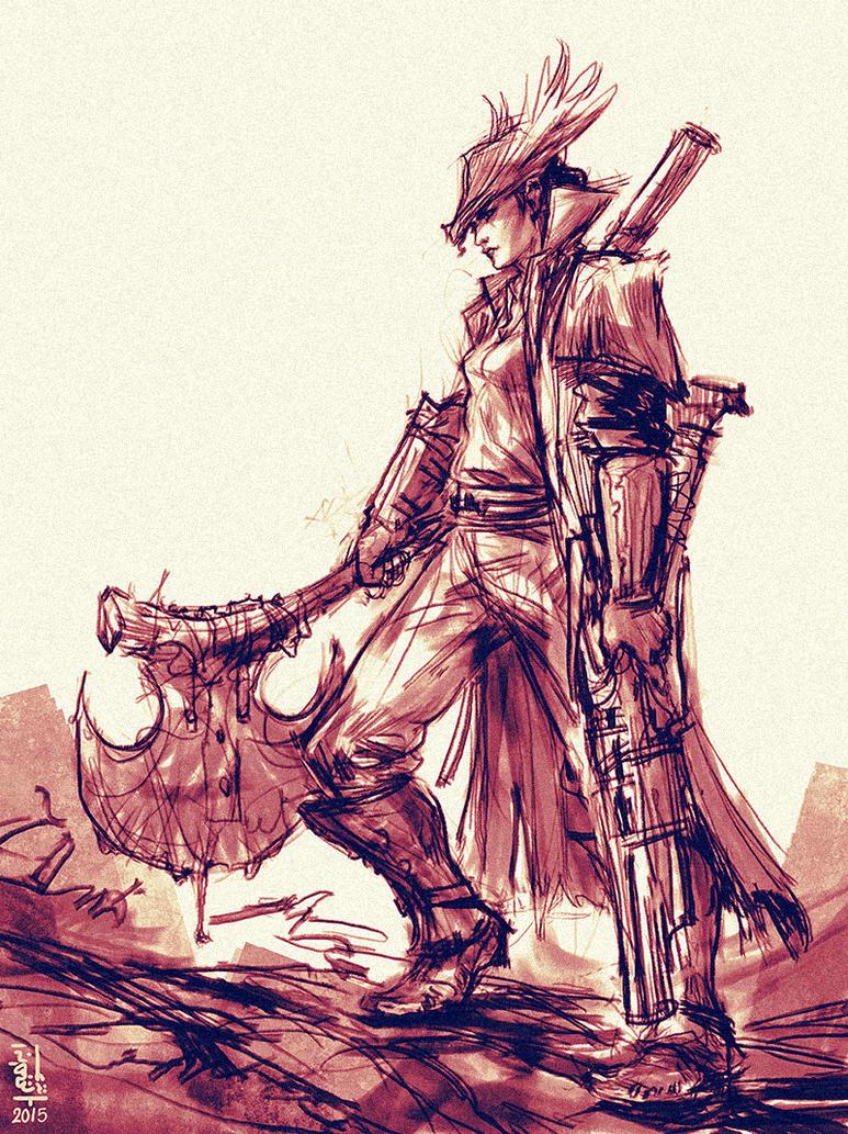 Bloodborne: Huntress by saint-max