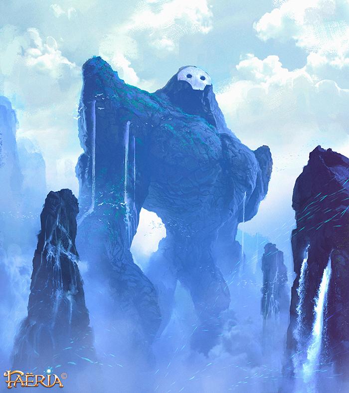 Blue Colossus ~ Faeria by saint-max