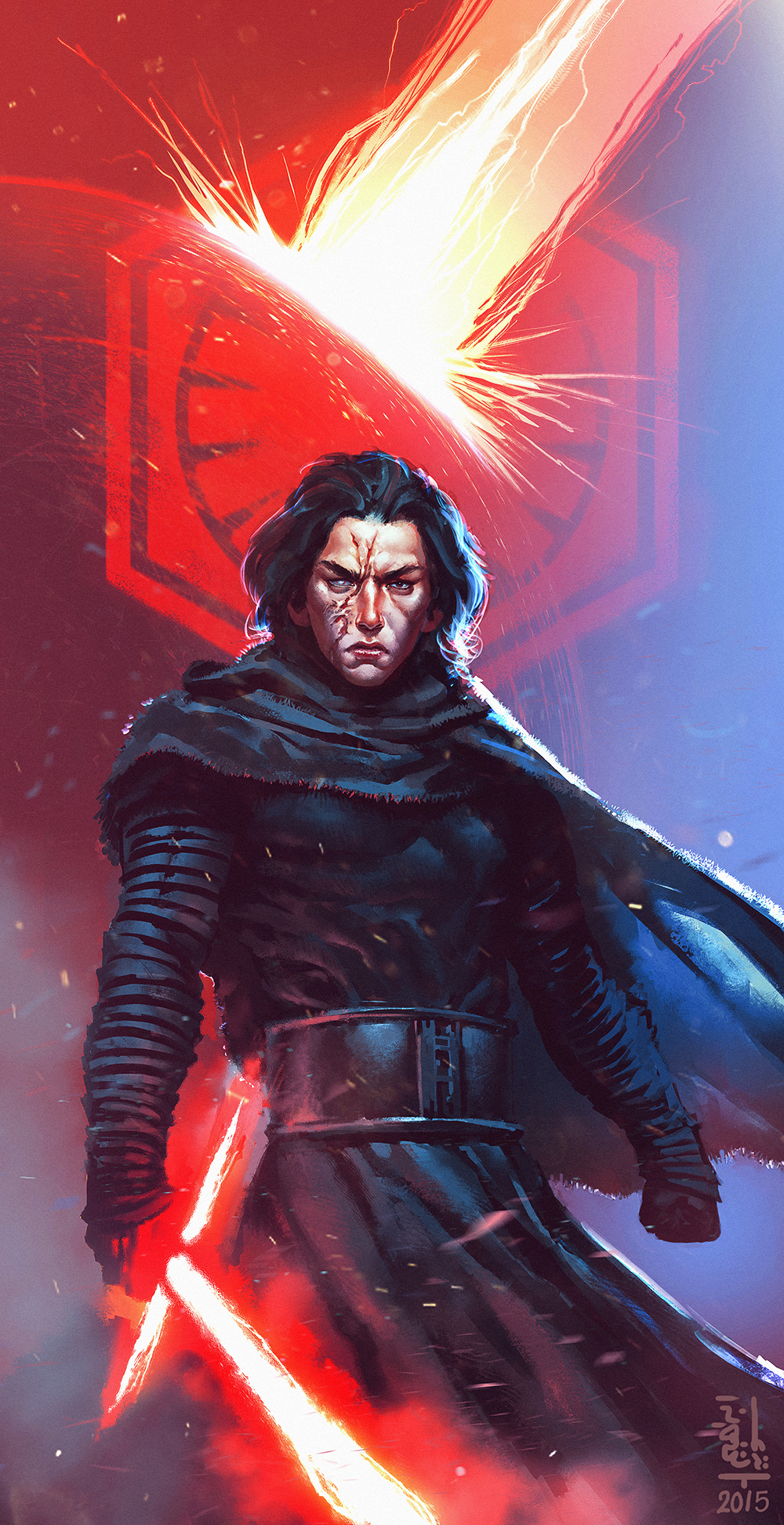 kylo ren fanart by saint max on deviantart. Black Bedroom Furniture Sets. Home Design Ideas