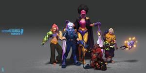 Artstation Challenge - Heroes' Set