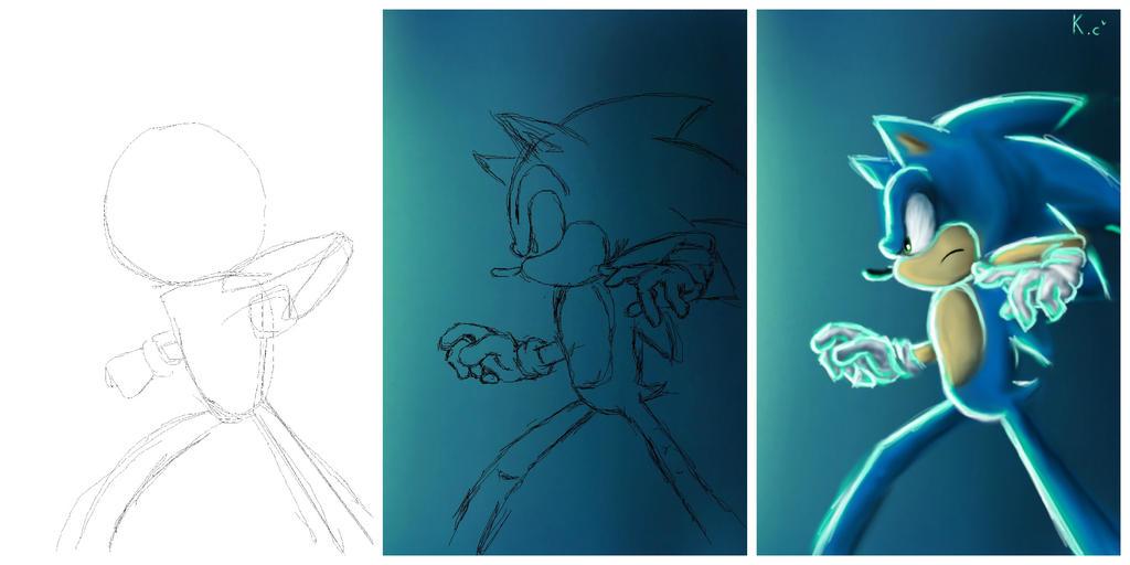 Sonic, steps. by Kifumi-chan1