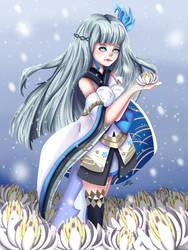 Onymoji Fanart Contest - Yuki Onna, The Snow Woman by NakamuraHaru-01