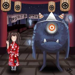 Japanese Monster At a Festivial by NakamuraHaru-01
