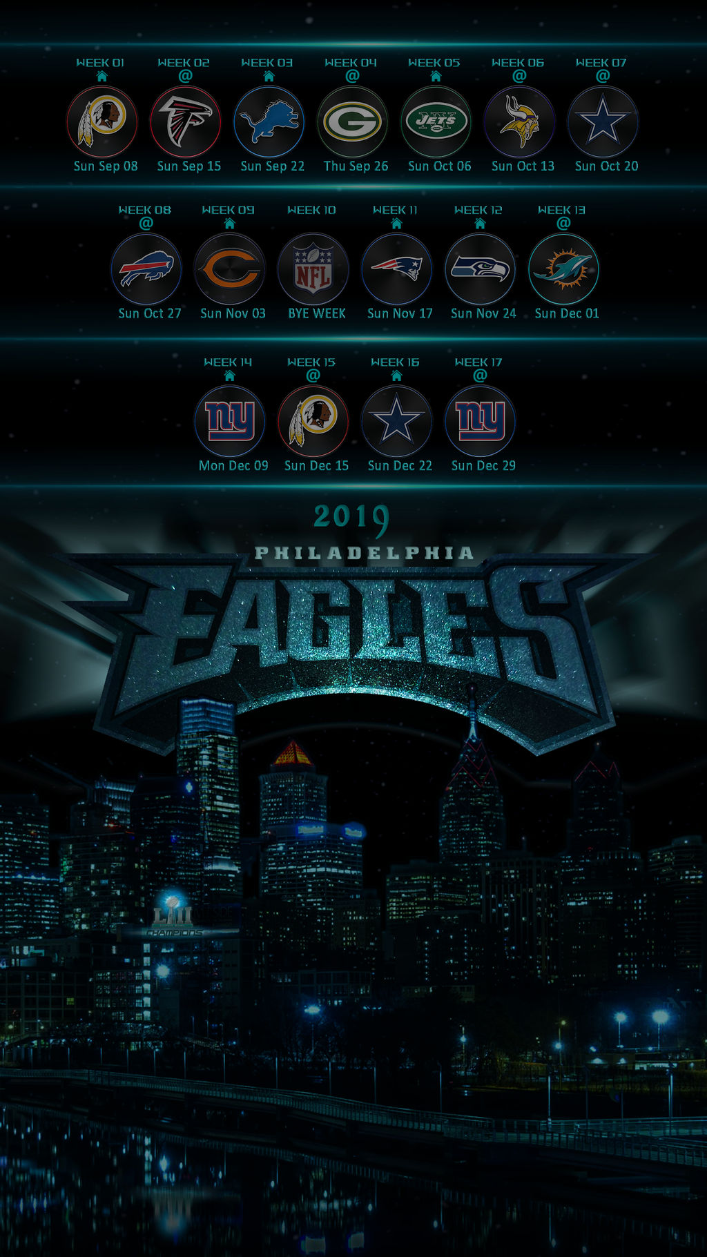 Philadelphia Eagles Wallpaper 2019 Phone Sched By Eaglezrock