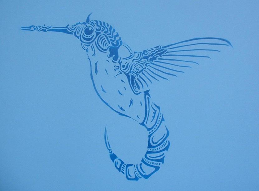 Hummingbird Stencil Hummingbird stencil by
