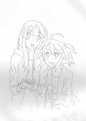 Mio and Yui by connman7