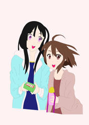 Mio and Yui Colored by connman7