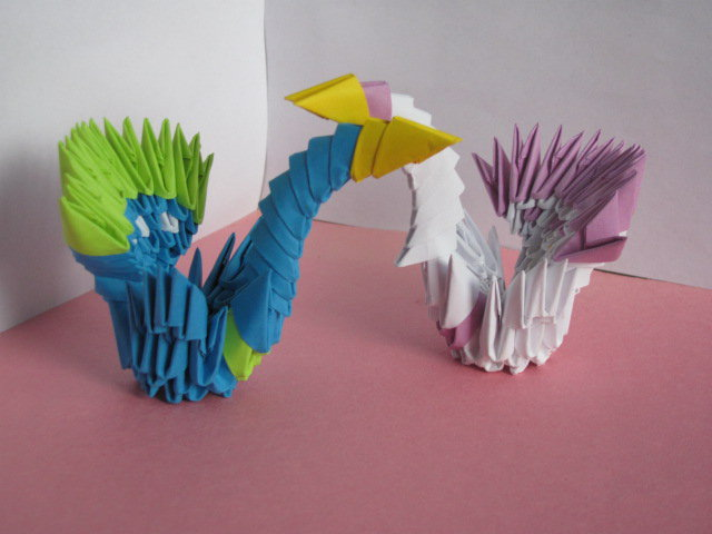 3D Origami Mini Peacock Tutorial YouTube
