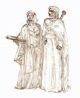 Polgara and Belgarion by Sprytes
