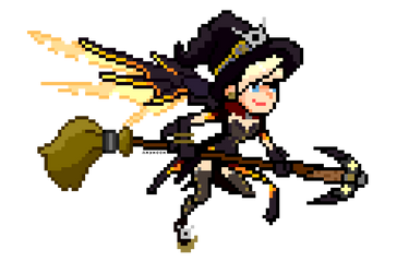 Mercy Witch (Pixel Art) by NayHooh
