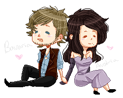 - bavaria and austria pixel chibi things by c-hemistry