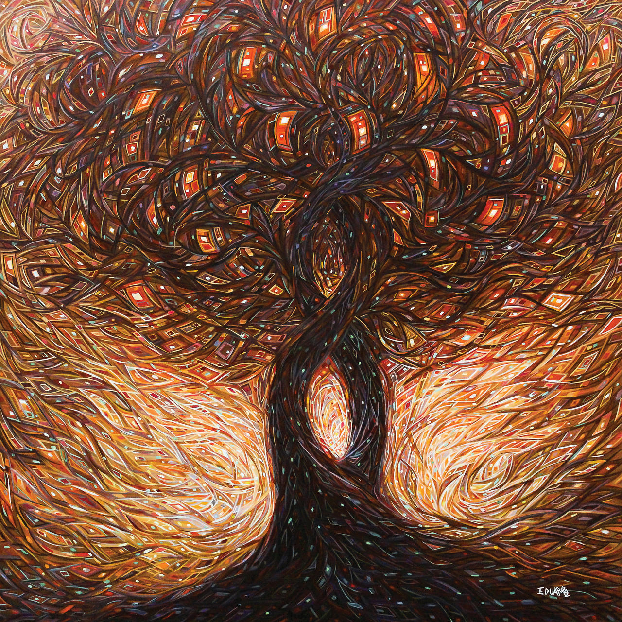 Acrylic Painting Tree Of Life