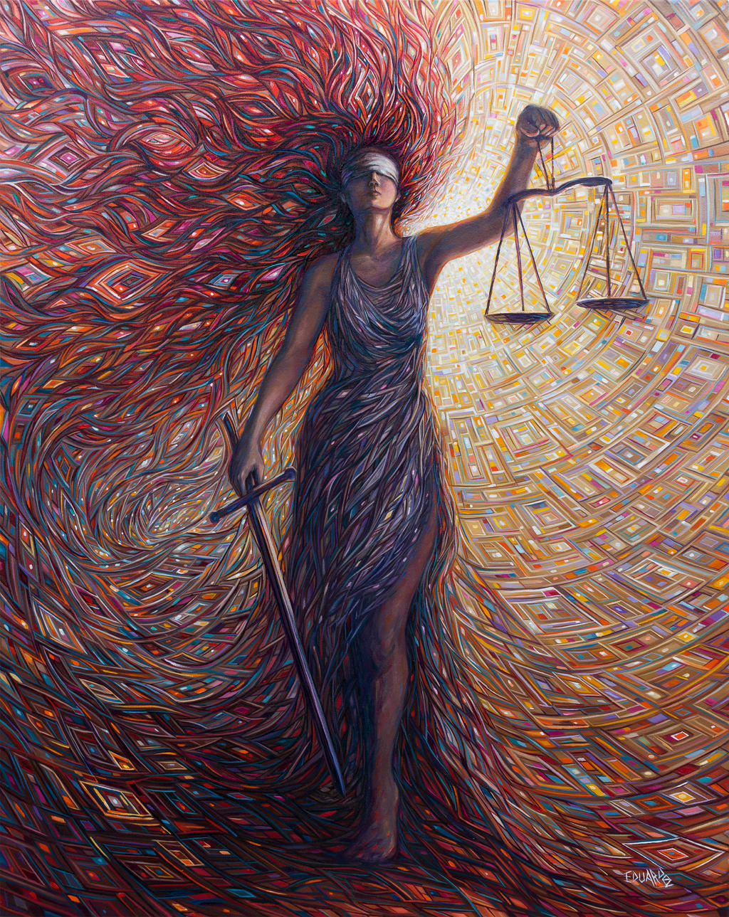 Justice Oil Painting