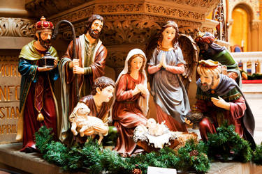 Nativity Scene at Stanford Memorial Church by richardxthripp