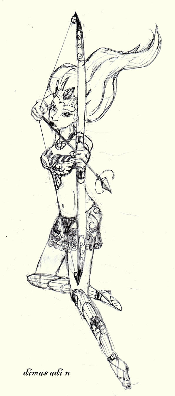 sketch - beautiful archer