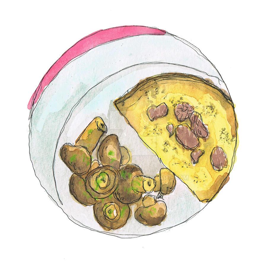 Culinary Project: #6 Frittata al tartufo e funghi by cassandra4