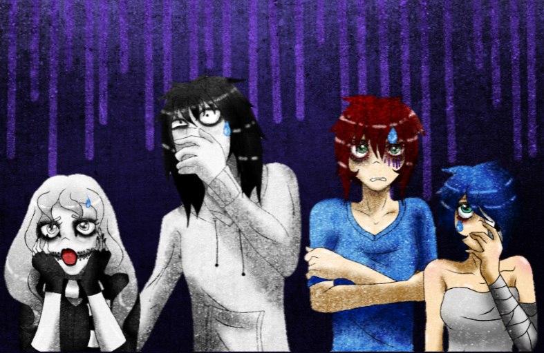 Creepypasta shocked by Kuro-Ame1995