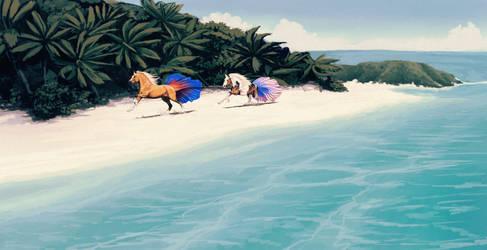 Beach Party| Commission for alpha-elites