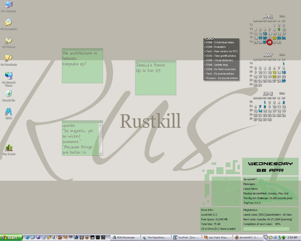 Rustkill's Desktop April 2004 by rustkill