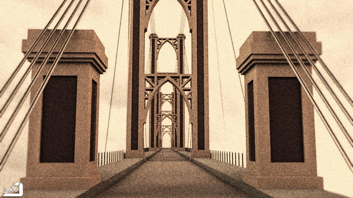 Deir Ezzor bridge 3D by Muhammed-SH