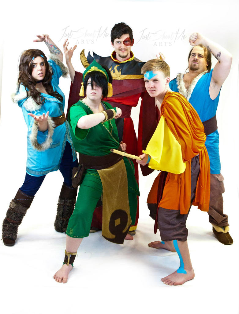 Avatar the last airbender gaang cosplay by beauty of latte on