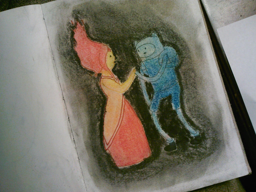 Finn and Flame Princess by AlexisM96
