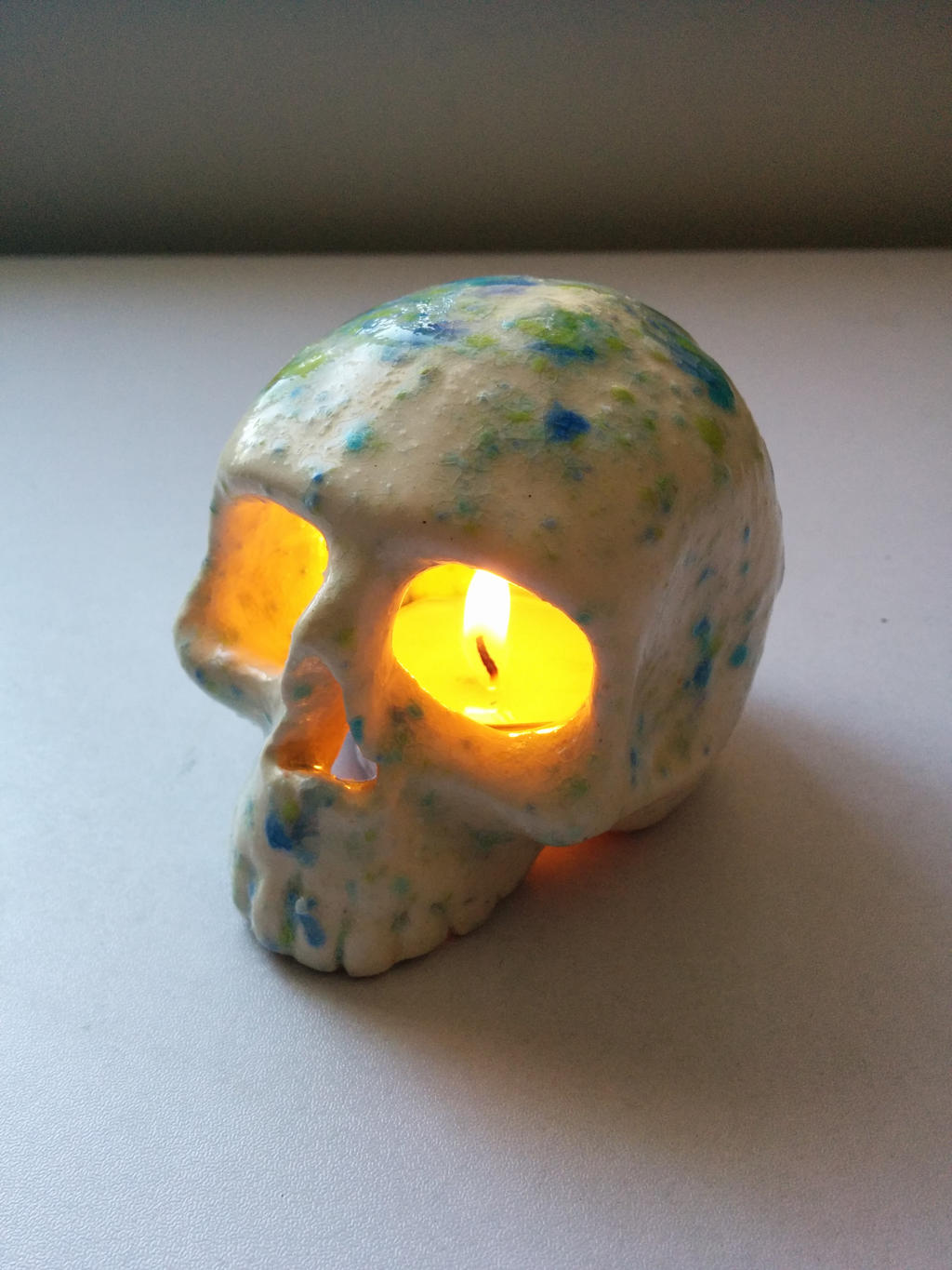 ceramic skull candle holder by alexism on deviantart - ceramic skull candle holder by alexism ceramic skull candle holder byalexism