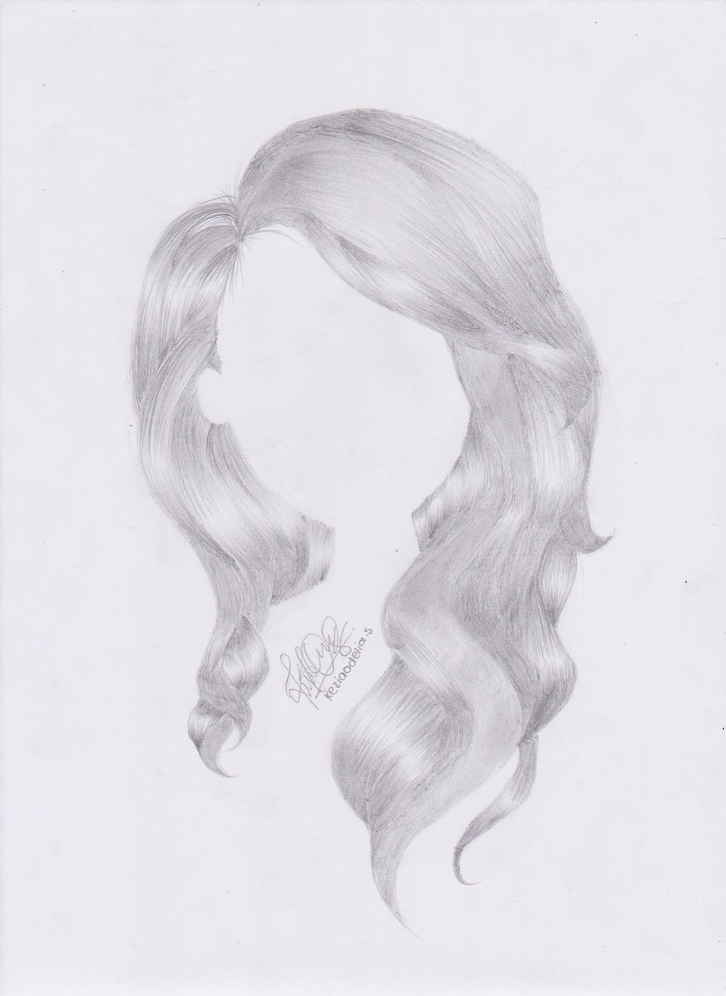 Long wavy hair drawings