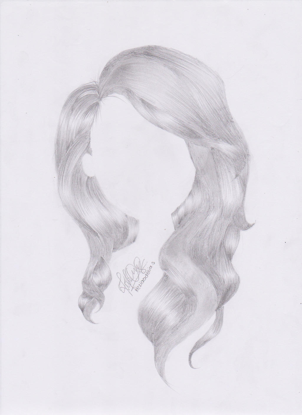 Wavy Hair Drawing By Keziaodelia On Deviantart