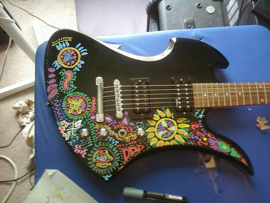 Hide's guitar remake WIP by roccomation on DeviantArt