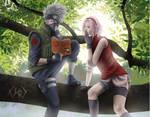 Kakashi and Sakura (KakaSaku) - Naruto Shippuuden