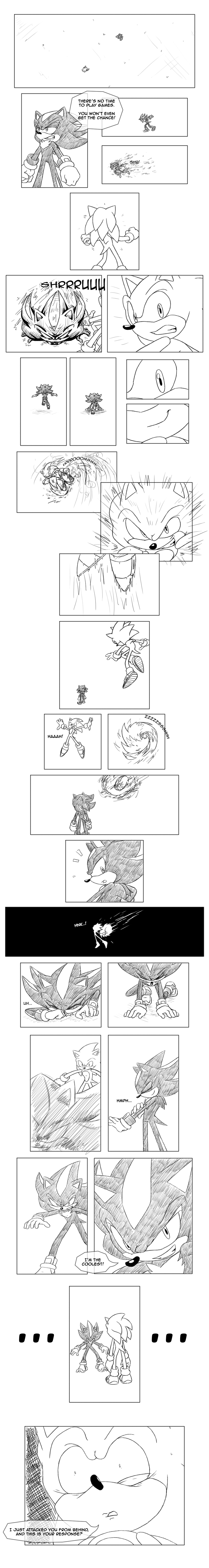 Sonic Adventure 2 - Sonic and Shadow Battle by Tri-Jean