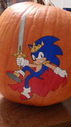 Pumpkin Painting - Sonic by Tri-Jean