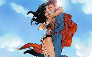 Wonder Woman/Superman Kiss