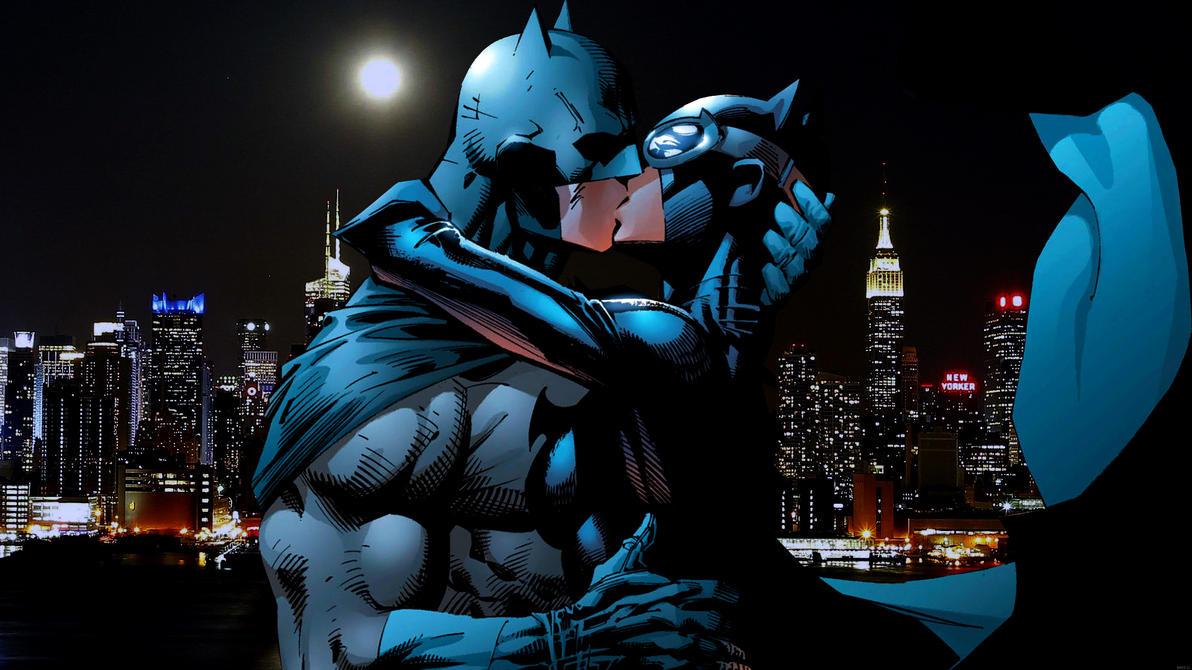 Batman/Catwoman Kiss by Xionice on DeviantArt