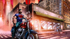 Superman on a Motorcycle