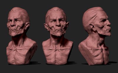 10 Clay materials for ZBrush_bust