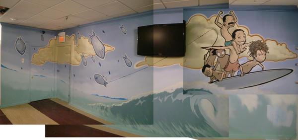 Barbershop mural, FL by Lucidflows