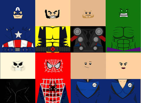 lego marvel super heroes decals pack