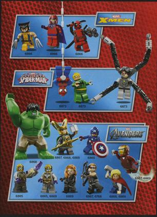 lego marvel super heroes minifigures list by megasonicbros