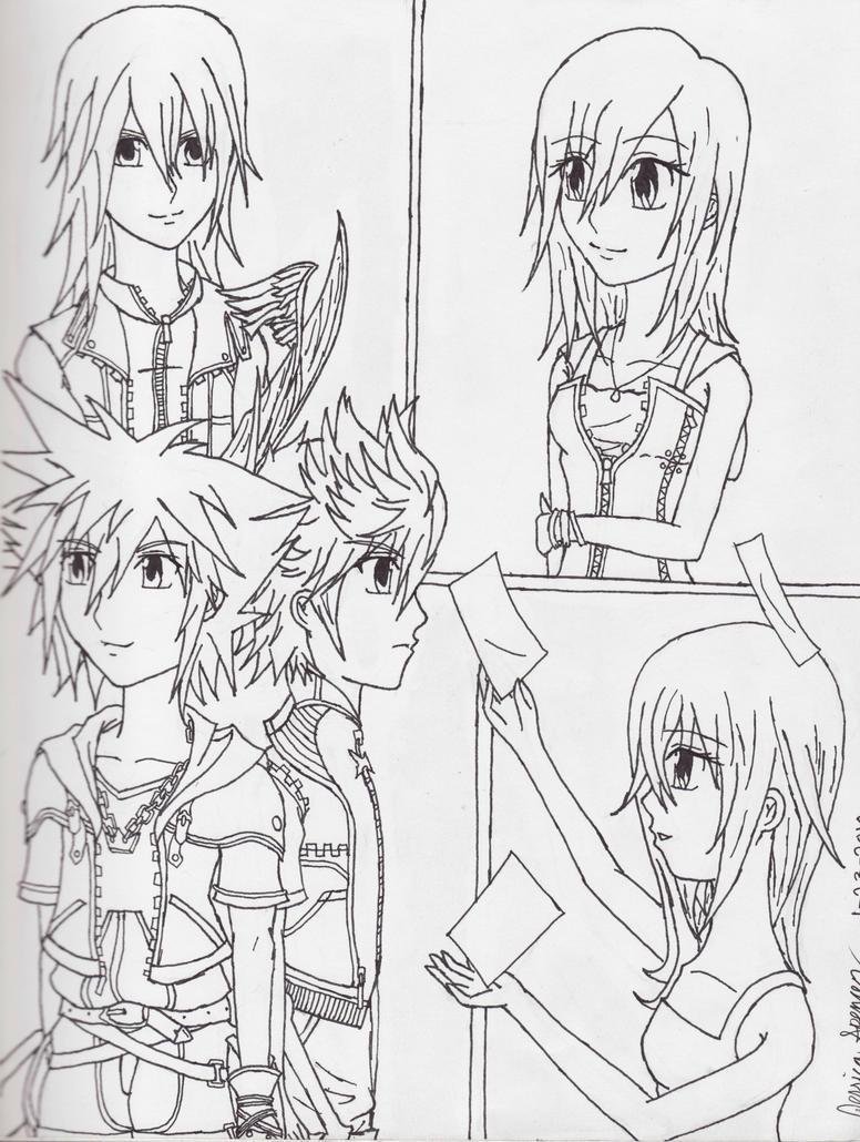 Kingdom Hearts Lineart : Kingdom hearts ii lineart by ichigokeyblade on deviantart