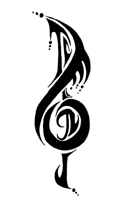 tribal music note by shad0w210 on deviantart